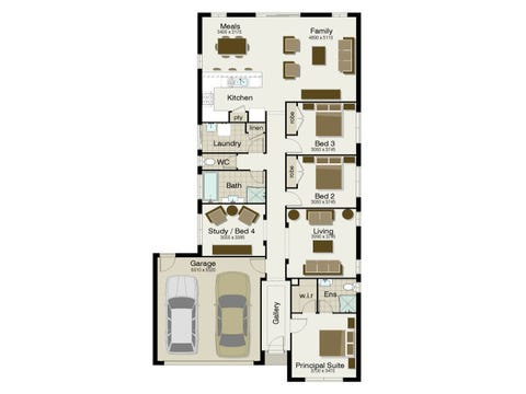 The Villa 200 - floorplan