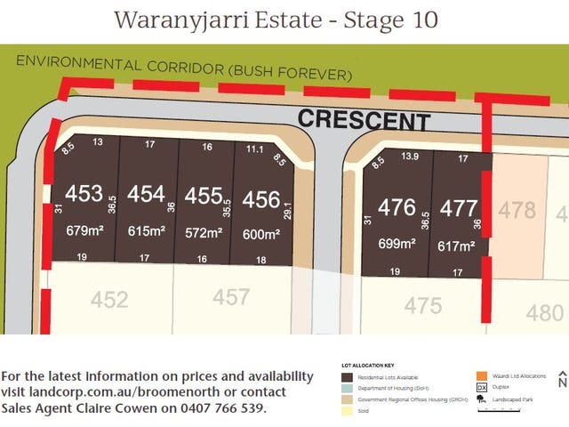Lot 456, Cnr Tomarito Crescent and Parris Way, Broome, WA 6725