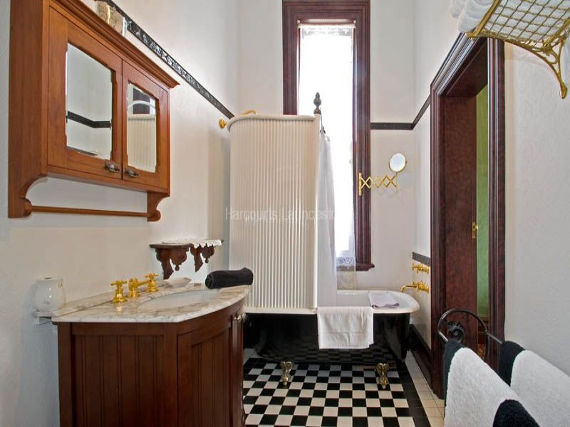 Period bathroom at Werona, 33 Trevallyn Road, Trevallyn, Tas 7250