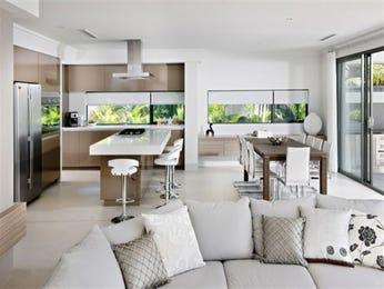 Casual dining room idea with tiles & bi-fold doors - Dining Room Photo 136581