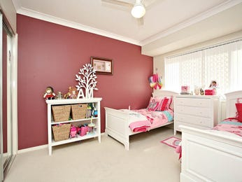 Children's room bedroom design idea with carpet & floor-to-ceiling windows using brown colours - Bedroom photo 136897