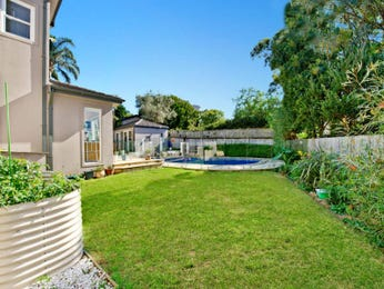 Landscaped garden design using grass with pool & hedging - Gardens photo 136970