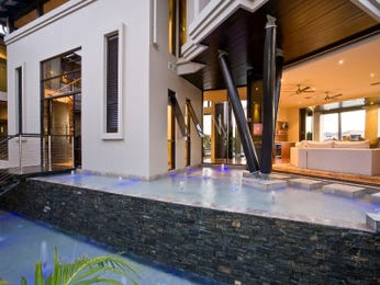 Multi-level outdoor living design with deck & ground lighting using pavers - Outdoor Living Photo 452850