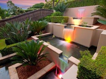 Modern garden design using brick with fish pond & decorative lighting - Gardens photo 142016