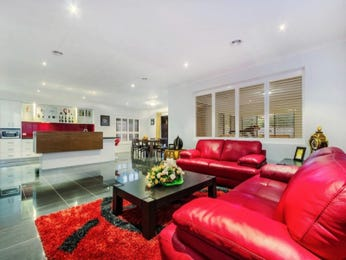 Red living room idea from a real Australian home - Living Area photo 15783465
