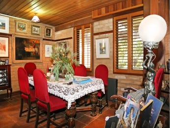 Red dining room idea from a real Australian home - Dining Room photo 15339733
