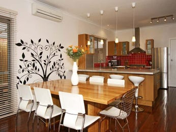 Classic dining room idea with exposed brick & bar/wine bar - Dining Room Photo 148794