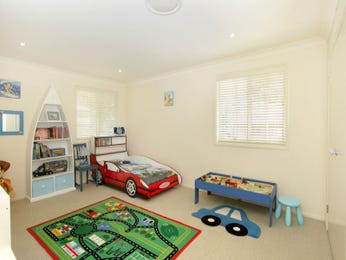 Children's room bedroom design idea with carpet & built-in wardrobe using blue colours - Bedroom photo 149296