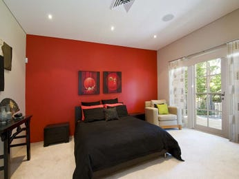 Modern Bedroom Ideas With Feature Wall In Red
