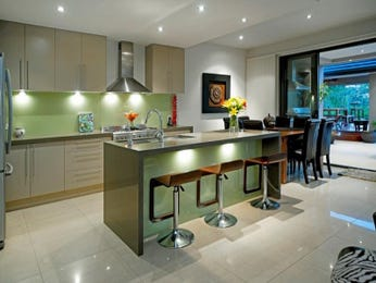Decorative lighting in a kitchen design from an Australian home - Kitchen Photo 1113032