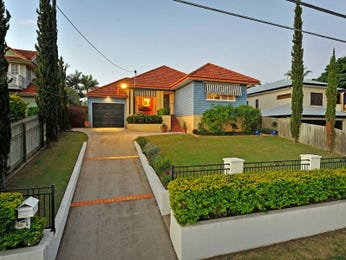 Concrete modern house exterior with brick fence & landscaped garden - House Facade photo 485324