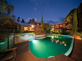 In-ground pool design using pavers with decking & decorative lighting - Pool photo 203568