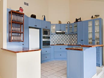 Kitchen-living living room using blue colours with slate & bar/wine bar - Living Area photo 341858