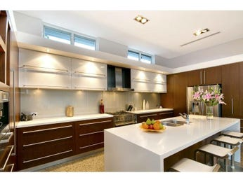 Wood panelling in a kitchen design from an Australian home - Kitchen Photo 15169197