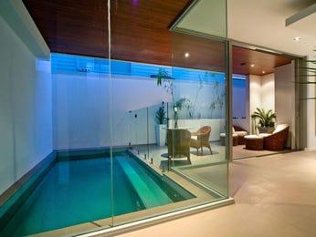 Indoor-outdoor outdoor living design with balcony & decorative lighting using tiles - Outdoor Living Photo 416120