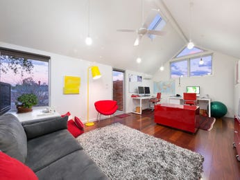 Red living room idea from a real Australian home - Living Area photo 15380017