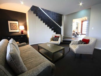 Black living room idea from a real Australian home - Living Area photo 7672945