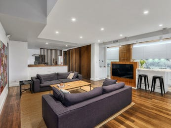 Brown living room idea from a real Australian home - Living Area photo 16257689