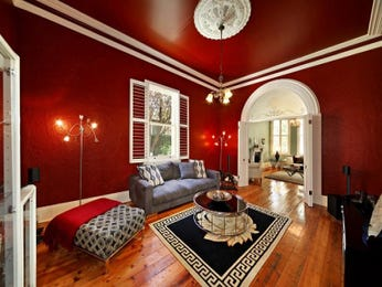 Red living room idea from a real Australian home - Living Area photo 7248765