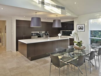 Modern kitchen-dining kitchen design using glass - Kitchen Photo 6912293