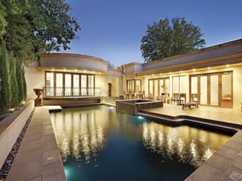 In-ground pool design using slate with decking & decorative lighting - Pool photo 400160