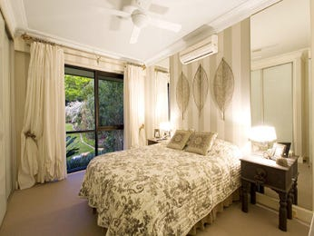 Classic bedroom design idea with carpet & floor-to-ceiling windows using beige colours - Bedroom photo 267446