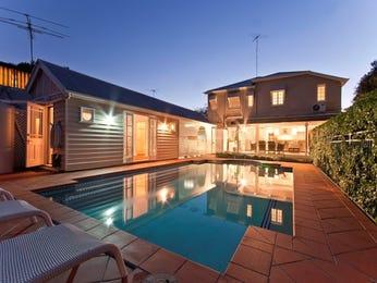 In-ground pool design using bluestone with glass balustrade & decorative lighting - Pool photo 269243