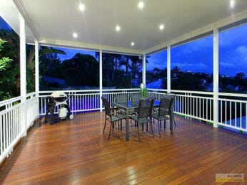 Multi-level outdoor living design with outdoor dining & ground lighting using tiles - Outdoor Living Photo 963168