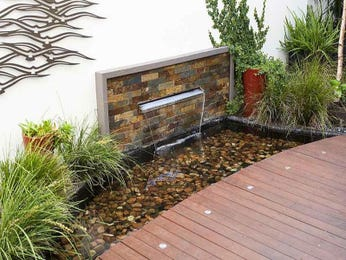 Landscaped garden design using timber with deck & rockery - Gardens photo 1253755