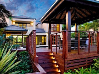 Landscaped garden design using bamboo with deck & outdoor furniture setting - Gardens photo 272165
