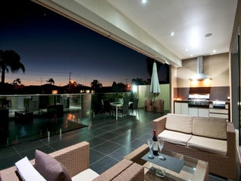 Indoor-outdoor outdoor living design with balcony & outdoor furniture setting using tiles - Outdoor Living Photo 2176885