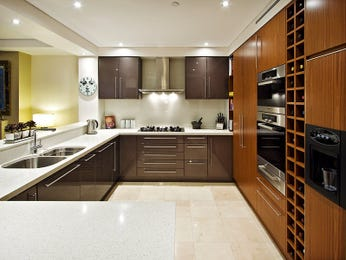 Modern open plan kitchen design using granite kitchen for Nice small kitchen units