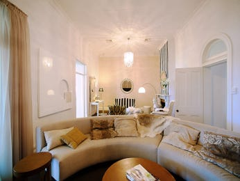 Gold living room idea from a real Australian home - Living Area photo 686789
