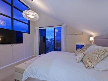 Modern bedroom design idea with tiles & built-in wardrobe using black colours - Bedroom photo 273937