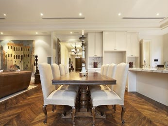 Period dining room idea with floorboards & bar/wine bar - Dining Room Photo 321937