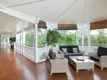 Enclosed outdoor living design with deck & decorative lighting using timber - Outdoor Living Photo 1266080
