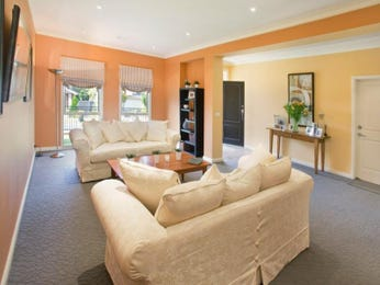 Orange living room idea from a real Australian home - Living Area photo 1217347