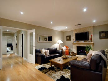 Brown living room idea from a real Australian home - Living Area photo 322793
