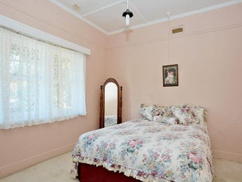 Classic bedroom design idea with tiles & bi-fold windows using pink colours - Bedroom photo 408514