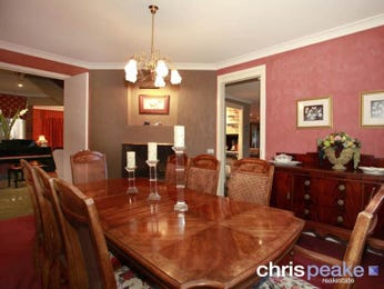 Red dining room idea from a real Australian home - Dining Room photo 325294