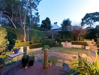 Landscaped garden design using grass with retaining wall & decorative lighting - Gardens photo 773739