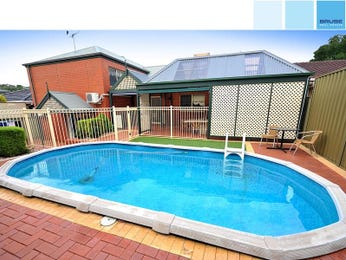 Low maintenance pool design using brick with decking & outdoor furniture setting - Pool photo 959865
