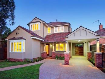 Brick californian bungalow house exterior with bi-fold windows & window awnings - House Facade photo 702442