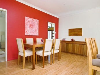 Red dining room idea from a real Australian home - Dining Room photo 573417