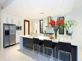 Open plan kitchen designs with marble