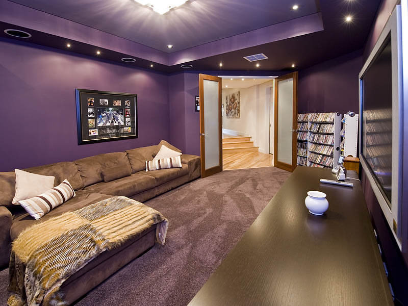 Purple living room idea from a real australian home Purple brown living room
