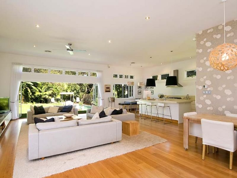 White living room idea from a real australian home for Australian home interior designs