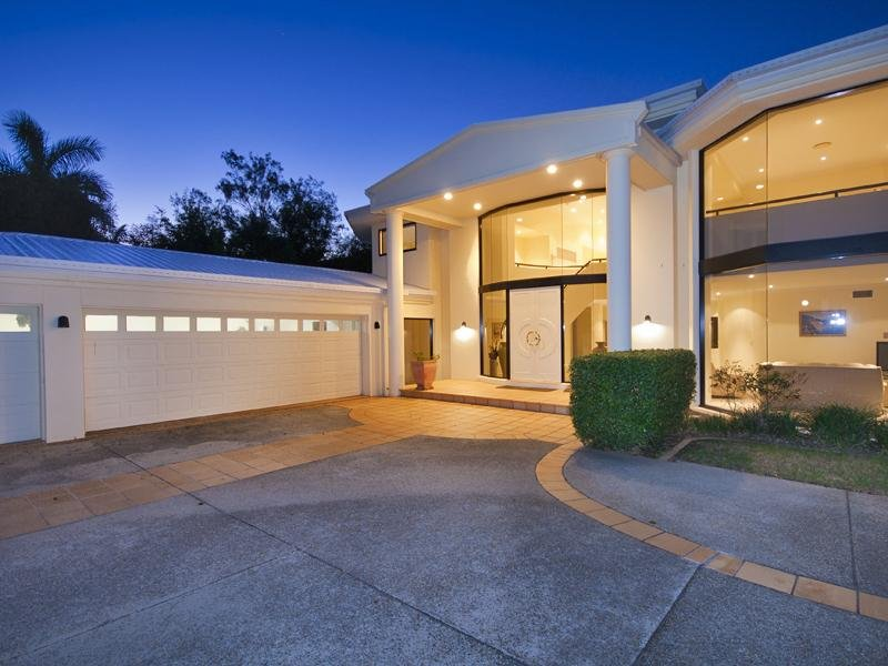 Concrete Modern House Exterior With Floor to ceiling