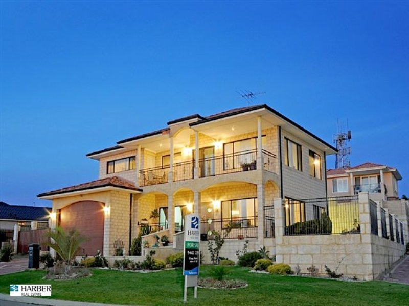 Sandstone Modern House Exterior With Balcony amp Landscaped