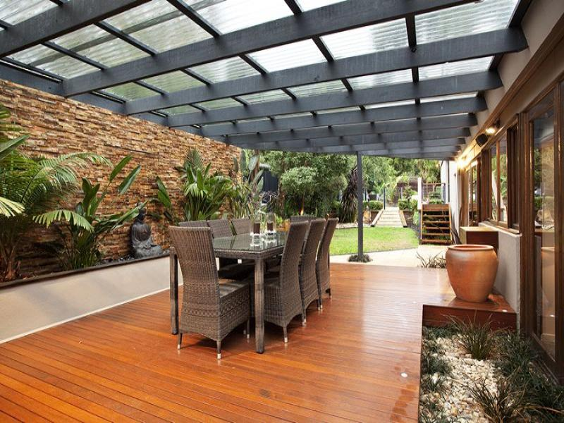 Photo of an outdoor living design from a real australian for Small outdoor patio areas